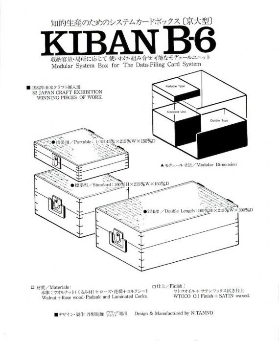 B6カードBOX TANNO 1982-1