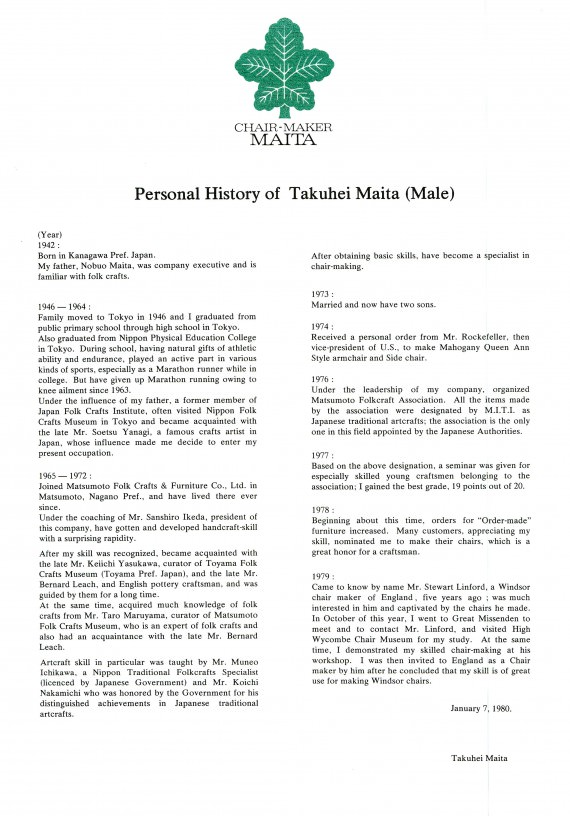 Maita Personal Histroy space